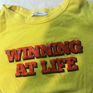 Zara monogram t shirt